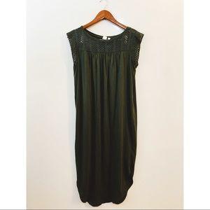 gap | olive green midi dress